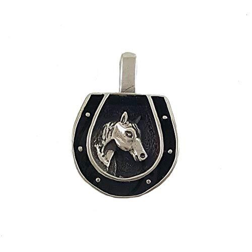 Unbekannt Indianerschmuck Silber Anhänger3D Pferd Hufeisen Pferdeanhänger Westernschmuck Indianer Schmuck Länge inkl. Öse 2,2 cm Breite 1,4 cm Gewicht 3 Gramm