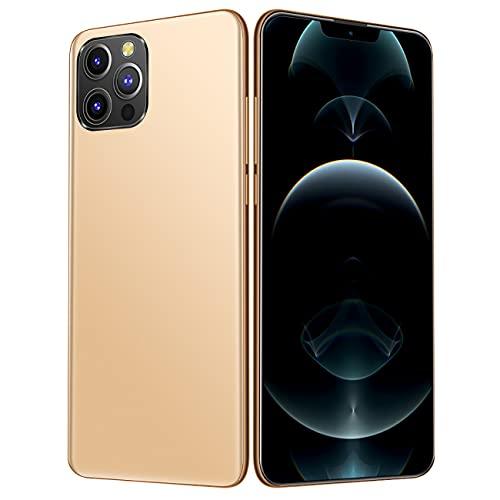 BOYISI I12Pro MAX Smartphone, teléfono móvil con Doble SIM de Pantalla HD de 6.7 Pulgadas, teléfonos móviles desbloqueados, teléfono móvil Android Desbloqueado con función de reconocimiento Facial