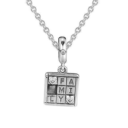 Pandora 925 Braccialetto di gioielli Natural Family Game Night Charm Bead Charms Perline in argento sterling per le donne Regalo fai da te