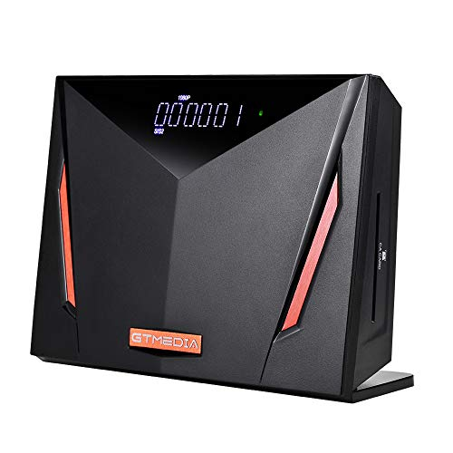GT MEDIA V8 UHD 4K Decodificador Receptor de satélite Compatible con DVB-S/S2/S2X+T/T2/Cable/ATSC-C H.265 WiFi Incorporado, Soporte SCART/ USB / PVR/ H.265 HEVC