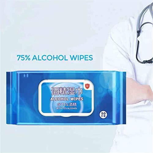 Persoonlijke reinigingsdoekjes 75% alcohol Vochtige doekjes 50 stks/doos Huishoudelijke desinfectiedoekjes voor alle dagelijkse bescherming