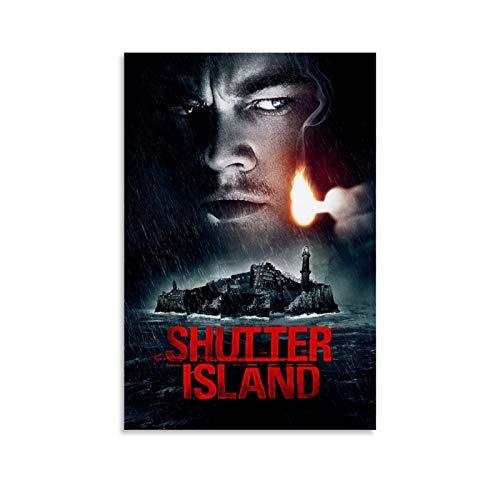 GUAHUA Póster de película clásica de Leonardo DiCaprio Shutter Island de Leonardo DiCaprio - Cuadro decorativo para pared (30 x 45 cm)