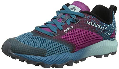 Merrell Damen All Out Crush 2 GTX Traillaufschuhe, Mehrfarbig (Clover/Ocean), 36 EU