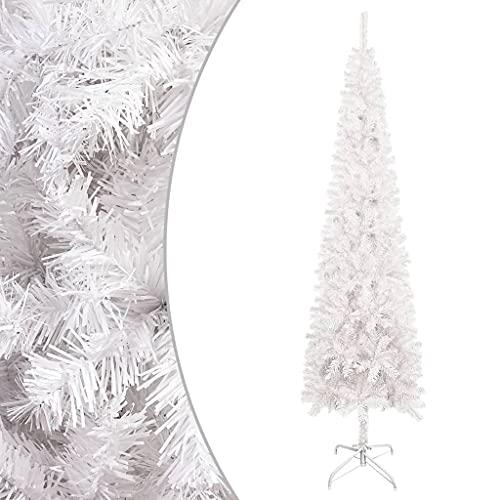 vidaXL Albero di Natale Sottile Bianco 150 cm