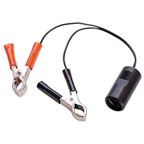 as - Schwabe Batterieadapter mit Zigarettenanzünderkupplung – 12 V Adapter DIN EN 61547 für Camping – 1m Leitung mit 2 Batterieklemmen – PKW, Wohnwagen & Wohnmobil Zubehör – IP20 – Schwarz-Rot I 42305