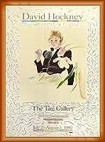 ポスター デビット ホックニー 白い花と黒い目のセリア 額装品 ウッドベーシックフレーム(オレンジ)