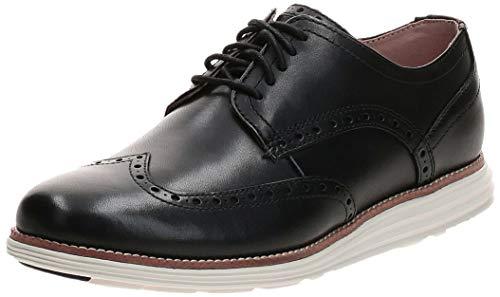 Cole Haan Men's Original Grand Shortwing Oxford Shoe, Black Leather/White, 11 Medium US
