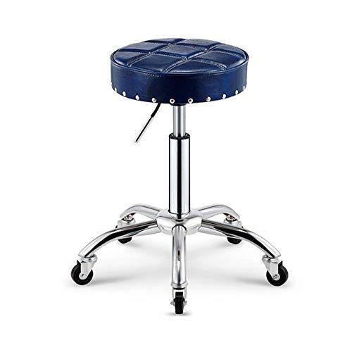NAN liang Siège pivotant pour chaise de bureau pivotante à réglage de hauteur hydraulique pour chaise de salon de coiffure, dossier de bureau avant (7 couleurs) (Couleur : Bleu)