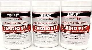 Cardio-911® (3 Pack) Mixed Berry Flavor 16.82 oz Powder (CoQ-10 100mg, L Arginine 5000mg, L Citrulline 1000mg per Serving) (3 Pack, Average Cost per Bottle $33.30) 90 Day Supply