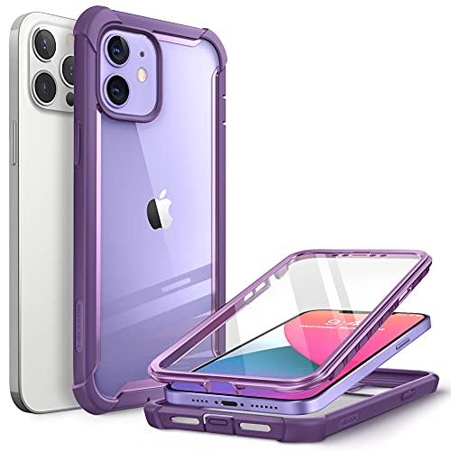CapaCapinha Case i BlasonAresparaiPhone12,iPhone12Pro6.1polegadas(versão2020),caparesistenteduplacamadatransparentecomprotetordetelaintegrado(Roxo)