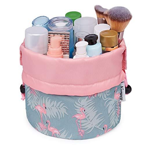 Barrel Makeup Bag Travel Drawstring Cosmetic Bag Toiletry Organizer Waterproof for Women and Girls
