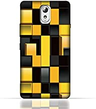 Lenovo Vibe P1m TPU Silicone Case With Yellow And Black Blocks Pattern Design