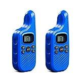 Midland C1425 XT5 Radio Ricetrasmittente Walkie Talkie per Bambini e Famiglie 38 Toni CTCSS, Trasmissione Half-Duplex, Raggio 4km, Colore Blu - 2 Ricetrasmettitori