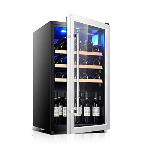 Réfrigérateur et boissons Cooler - 40dB, 160L, Grande boisson Frigo Cooler for la collecte de vin, avec porte en verre et lumière LED bleue 8bayfa