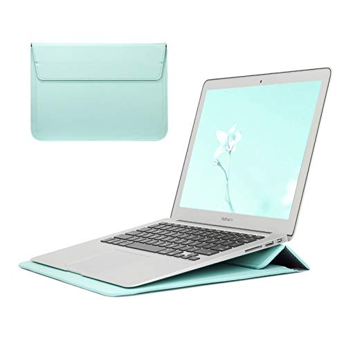 WSY Stand Cover For Apple Macbook Air 13 Pro 16 12 11 15 Laptop Case For Mac Pro 13 Case M1 A2338 A2337 A1932 Sleeve Bag (Color : Mint Green, Size : 2020Pro13 A2289A2251)