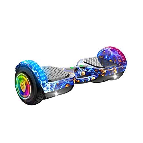 Hoverboard 6,5 Pulgadas Auto Balance Hoverboard Hoverboard 500W Motor Sistema De Gestión De Batería Mayor Rango De 25km Con Altavoz Bluetooth LED LED De Emisión De Luz MANGO PORTEGABLE Coche de equili