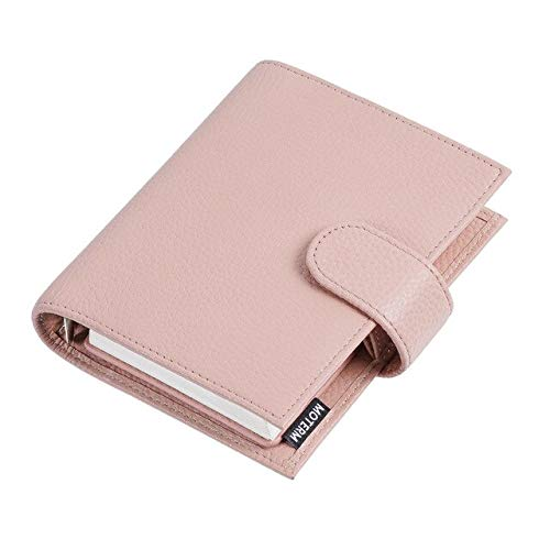 Litchi Grain Leather Anillos de bolsillo regulares Planificador A7 Ring   Mini Agenda Organizador...
