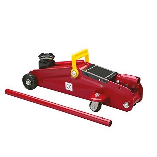 Cartrend 7740014 Hydraulischer Rangierwagenheber, 2 T Tragkraft, für Werkstatt und Hobby, gefertigt aus Qualitätsstahl