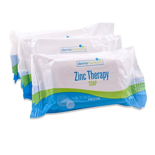 DermaHarmony Pyrithione Zinc (ZnP) Therapy Soap 4 oz Bars - 3 Pack -...