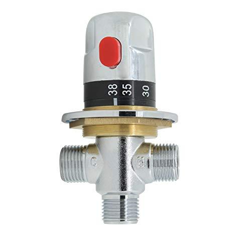 Valvola miscelatrice termostatica 1/2 miscelatore termostatico 3 vie vasca doccia solare