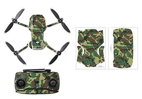 Rantow Adesivo decorativo conchiglia Set di decalcomanie del controller per DJI Mavic Mini Drone Impermeabile Decorazione della pelle fai da te fuco Adesivo per il corpo (5- Camo verde)