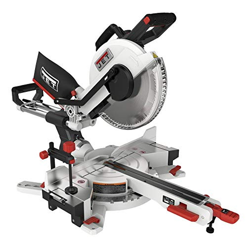 "Jet 12"" Sliding Dual Bevel Compound Miter Saw, Gray (707212)"