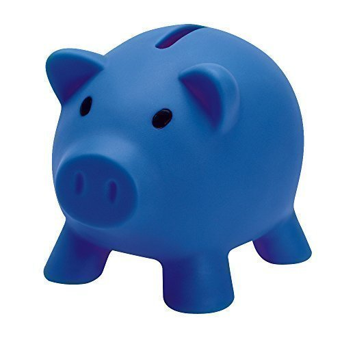 eBuyGB 1278504 Spaarvarken, spaarpot voor geld, grappig cadeau-idee, blauw