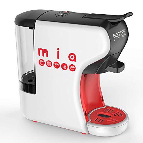 Elettro Living Mia- Macchina Espresso Multicompatibile, Mia per Tutti i Tipi di caffè, Bianco-Rosso-Nero, 31,5x14x29,5 cm-700ml