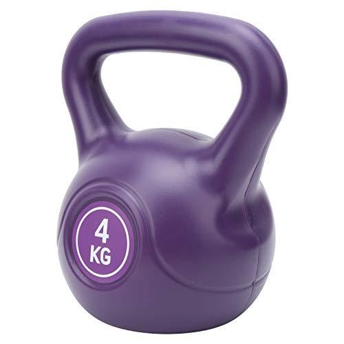 Da Dini Kettlebells 4KG para entrenamiento abdominal para mujeres y principiantes, equipo de ejercicio para entrenamiento en casa y gimnasio Fitness – Pesa rusa de hierro fundido