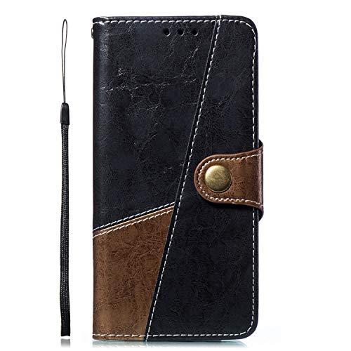 Uposao Kompatibel mit Handyhülle Galaxy Note 8 Handytasche Bookstyle Flip Case Leder Tasche Retro Ultradünn Lederhülle Wallet Klapphülle Kunstleder Cover Standfunktion Magnetverschluss,Braun Grau