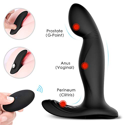 Rechargeable Vibrating Stimulator Plug 9 Stimulation Patterns, Male Postate Massager for Man Wireless Remote Control