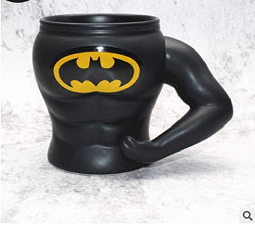 LDJING Taza De Anime Taza De Café Marvel Muscular Man Mug Taza De Cerámica Personalizada-400 Ml-Estilo Batman-400 Ml