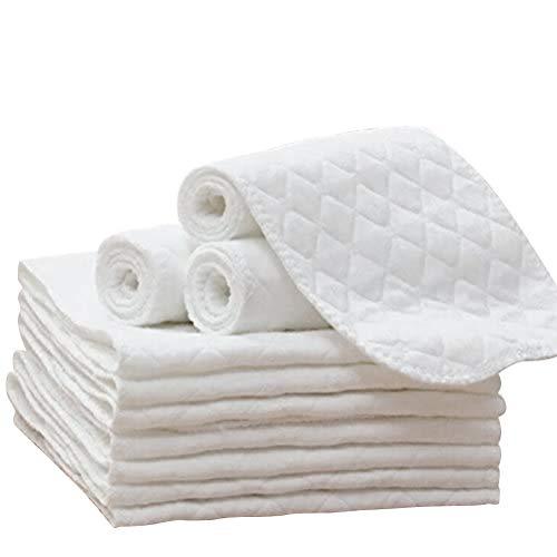 Lseqow Mullwindeln, Musselin Tücher, Windeln Spucktücher, Saugfähige Waschlappen Faltwindeln für Babys, Stoffwindeln Faltwindeln,10 Stück