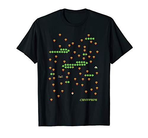 8 Bit Centipede Gameplay T-shirt, Black