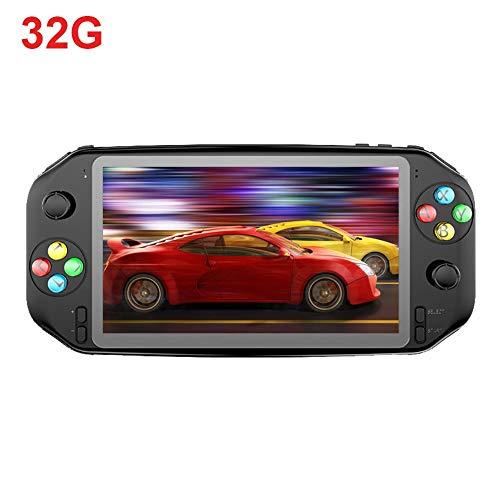 Controlador De Juegos Mini Consola De Juegos Portátil Máquina Clásica De Videojuegos Retro Consola De Juegos Portátil con Pantalla IPS HD De 7 Pulgadas Retro Arcade Gamepad, 32G / 64G