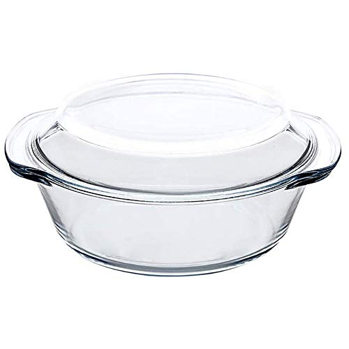 Runder Glasauflauf Mit Deckel, Hitzebeständiger Glaskochtopf, Restaurant In Der Wohnküche, Temperaturen Von 0 ° F Bis 400 ° F Standhalten