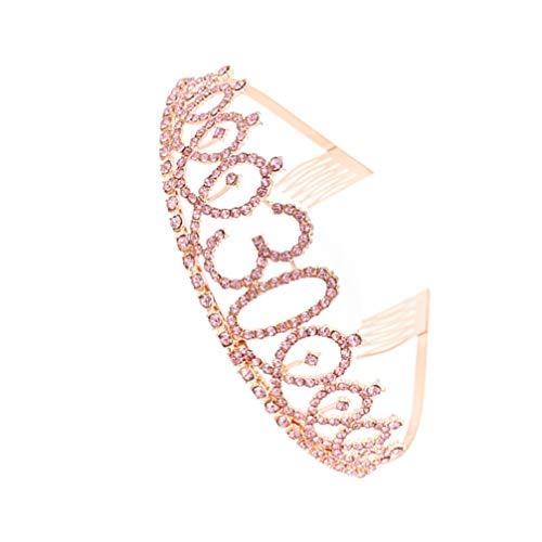 Uonlytech Tiaras femininas de coroas de 30 anos, ouro rosa, strass, cristal, princesa, meninas, coroas de 30 anos, rainha para mulheres, fantasia de aniversário de 30 anos, formatura