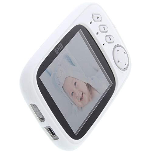foto-kontor Housse pour GHB Babyphone 3,2 Zoll en Caoutchouc TPU étui de Protection Blanc