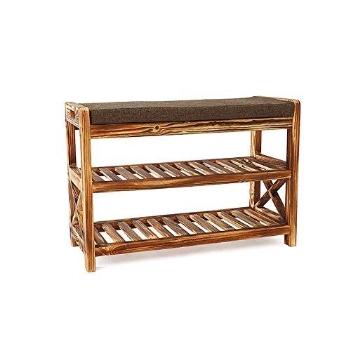 Chaussure Cabinet Moderne Minimaliste en Bois Massif Canapé Chaise Simple Multi-Fonction Bambou Porte Chaussures Chaussures Rack (70 * 30cm * 48cm)