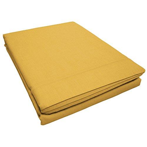 douceur d intérieur 1641651 LINA Drap Plat Coton Miel 180 x 290 cm