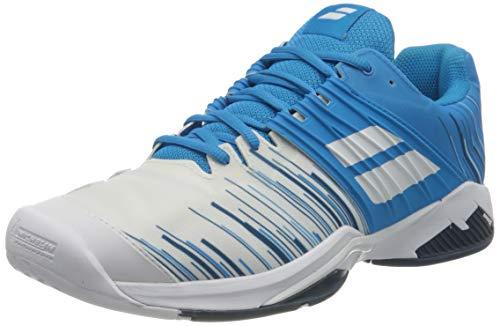 Babolat Herren Propulse Fury All Court M Tennisschuhe, White/Blue Aster, 43 EU