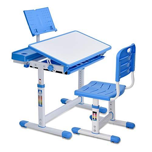 Bellanny Kinderschreibtisch und Stuhl Set, Schülerschreibtisch, Schreibtisch Kinder, Mit...