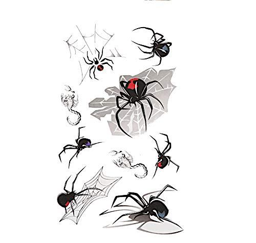 Klebetattoo Tattoos Spinnen Skorpione Comic diverse Designs 9 Motive 1 Bogen