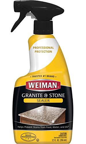 Weiman Granite Sealer and Protector  (12 Ounce) for  Granite Marble Soapstone Quartz Quartzite Slate Limestone Corian Laminate  Tile Countertop