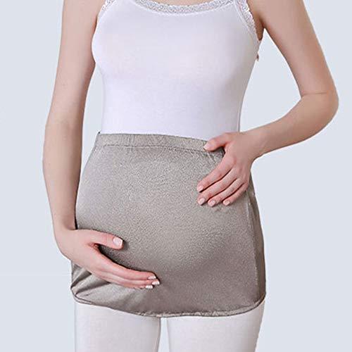 Vestido De Maternidad Antirradiación Bebé Traje De Radiación - Traje De Radiación De Fibra Plateada Tanque De Maternidad Ropa De Protección EMF, Gris