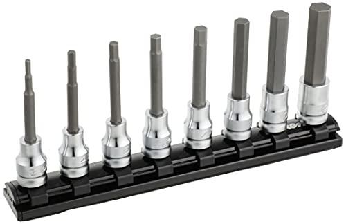 コーケン 9.5mm差込 Z-EALヘックスビットソケットレールセット8ヶ組 RS3010MZ8L75