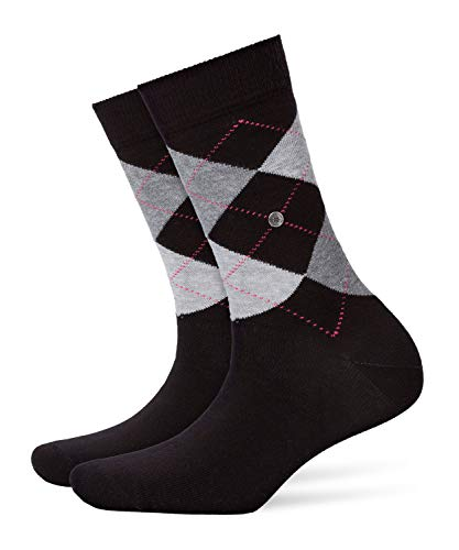 BURLINGTON Damen Socken Queen - Baumwollmischung, 1 Paar, Schwarz (Black 3000), Größe: 36-41