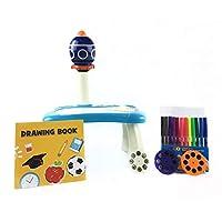 子供絵画玩具学習デスク、スマートプロジェクターライト音楽付きの絵画セット、子供のための教育用プロジェクション絵画機械おもちゃギフト