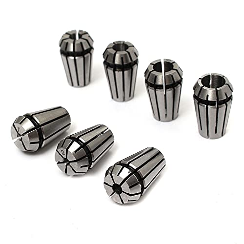 7pcs ER11 1-7mm Secur Spring Seclet Set Precision CNC Arrojar Para CNC Máquina de grabado Herramienta de torno d