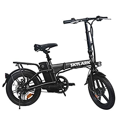 "Nakto 16"" Folding Electric Bicycle Lightweight and Aluminum Folding EBike,Electric Bicycles for Adults"
